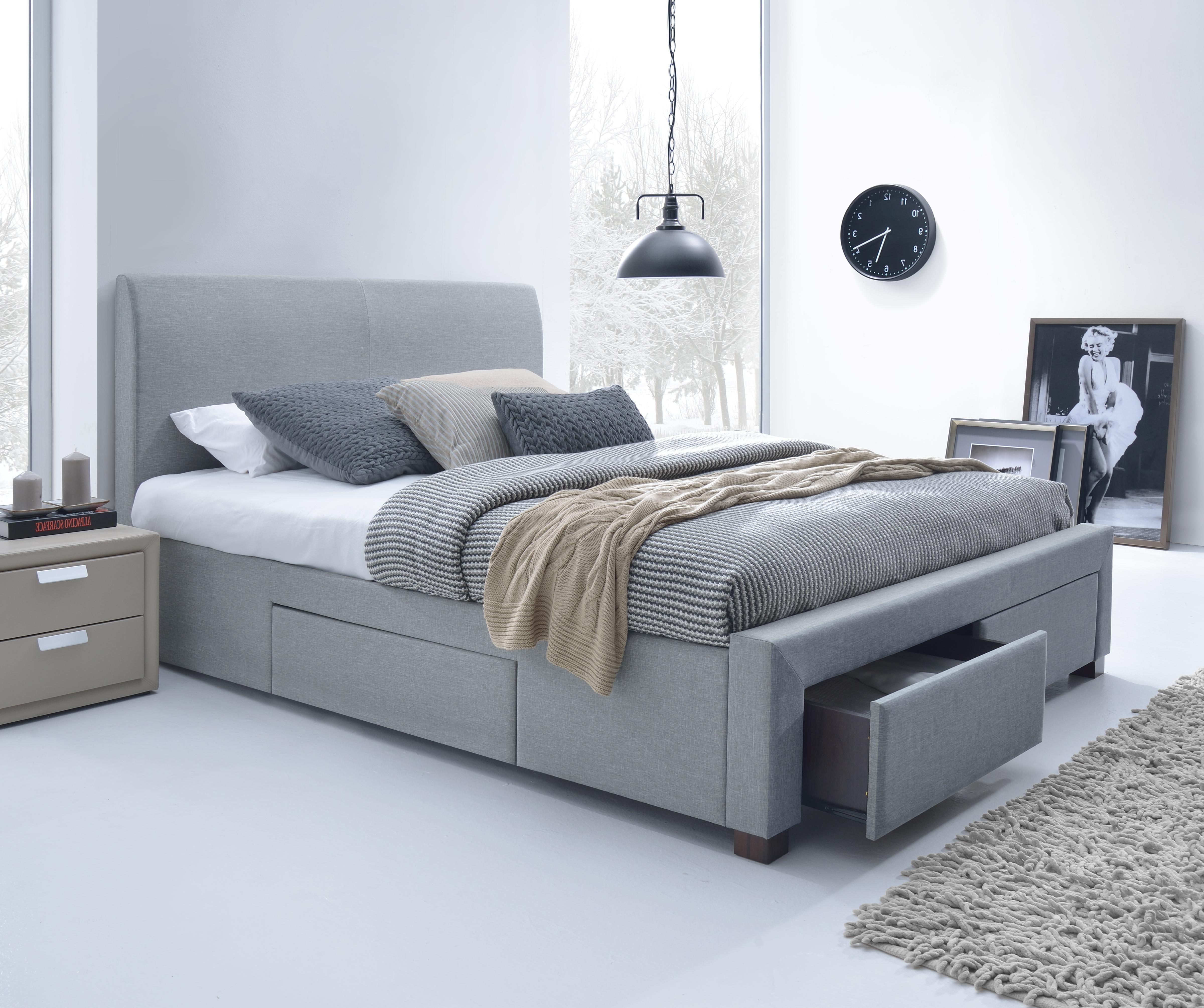 03b4e261a433 Manželská posteľ 160 cm Modena (s roštom)