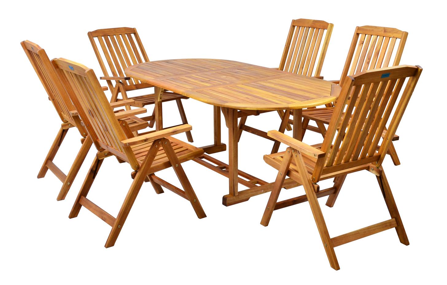 Záhradný nábytok - Hecht - Leader set 1+6 (akácia). Doprava ZDARMA. Sme autorizovaný predajca Hecht. Vlastná spoľahlivá doprava až k Vám domov.