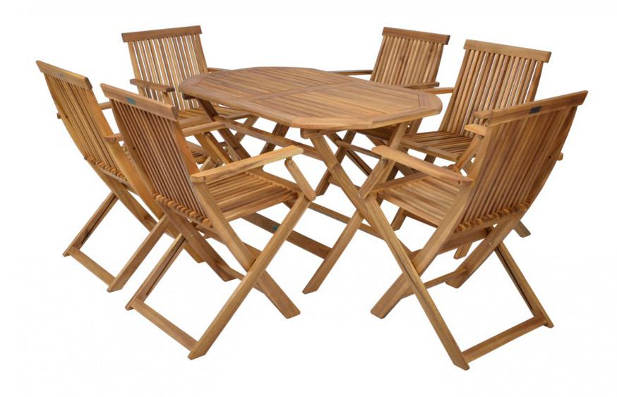 Záhradný nábytok - Hecht - Basic set 6 (akácia). Sme autorizovaný predajca Hecht. Vlastná spoľahlivá doprava až k Vám domov.