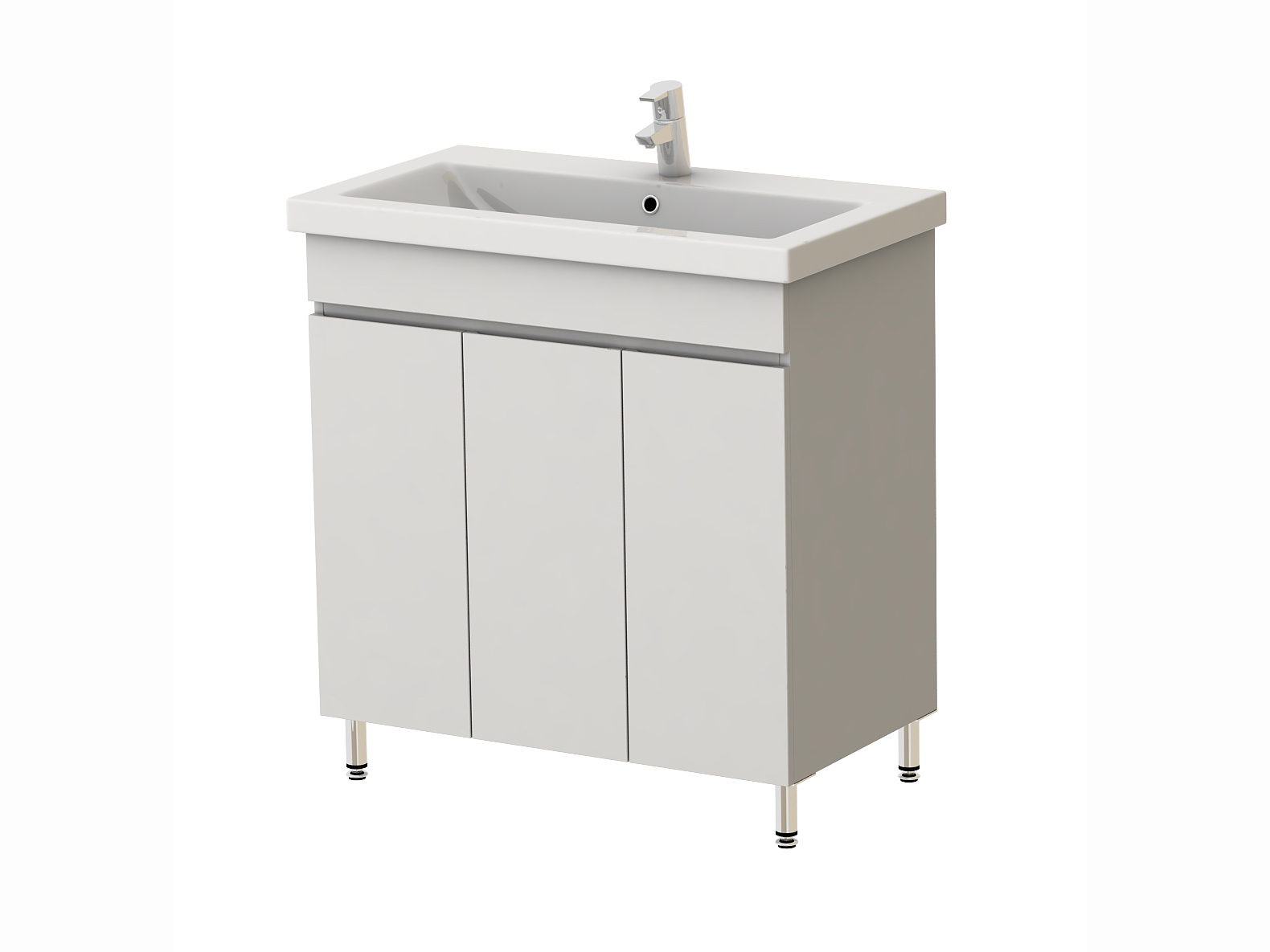 Kúpeľňová skrinka s umývadlom Juventa Ariadna Ar3-80 W