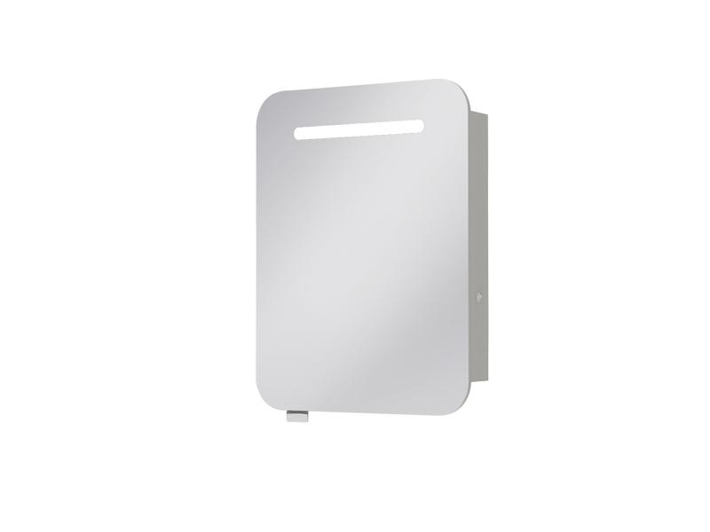 Kúpeľňová skrinka na stenu - Juventa - Prato - PrM-60 (so zrkadlom) (s osvetlením). Sme autorizovaný predajca Juventa. Vlastná spoľahlivá doprava až k Vám domov.