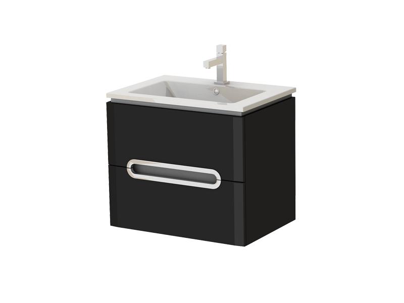 Kúpeľňová skrinka na stenu s umývadlom - Juventa - Prato - Pr-65 B. Sme autorizovaný predajca Juventa. Vlastná spoľahlivá doprava až k Vám domov.