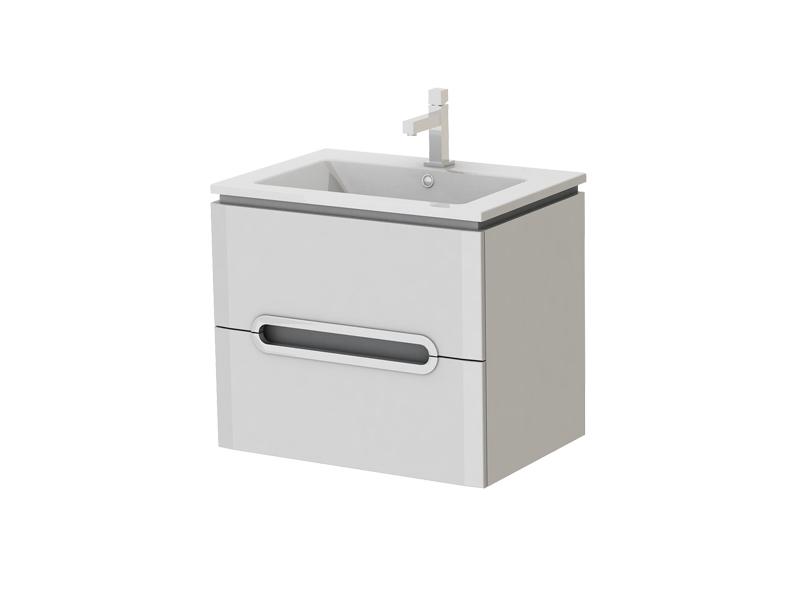 Kúpeľňová skrinka na stenu s umývadlom - Juventa - Prato - Pr-65 W. Sme autorizovaný predajca Juventa. Vlastná spoľahlivá doprava až k Vám domov.