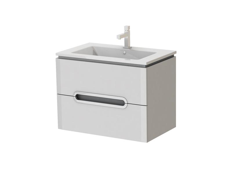 Kúpeľňová skrinka na stenu s umývadlom - Juventa - Prato - Pr-75 W. Sme autorizovaný predajca Juventa. Vlastná spoľahlivá doprava až k Vám domov.