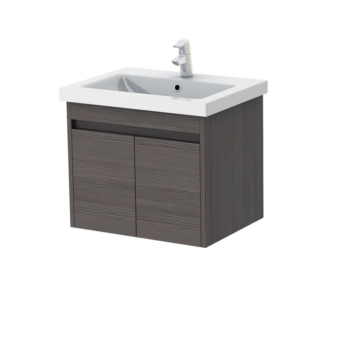 Kúpeľňová skrinka na stenu s umývadlom - Juventa - Ravenna - Rv-60 (sivohnedá). Sme autorizovaný predajca Juventa. Vlastná spoľahlivá doprava až k Vám domov.