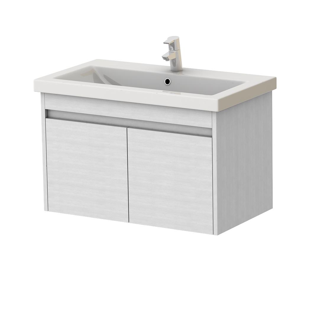 Kúpeľňová skrinka na stenu s umývadlom Juventa Ravenna Rv-80 (biela)