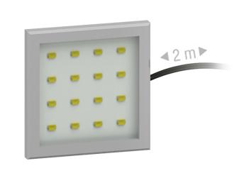 LED osvetlenie - ML Nábytok - Fjord štvorec