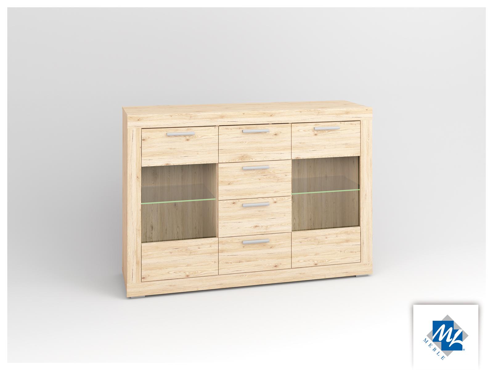 Vitrína - ML Nábytok - Modern 10 dub San Remo