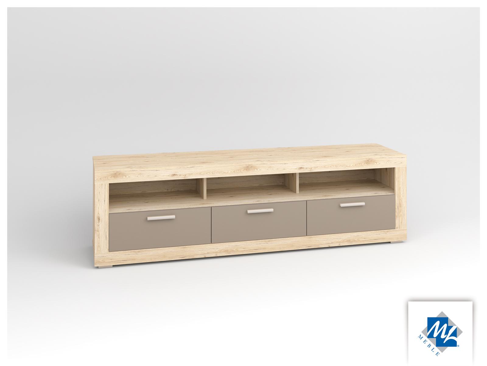 TV stolík/skrinka - ML Nábytok - Modern 12 dub San Remo + grafit