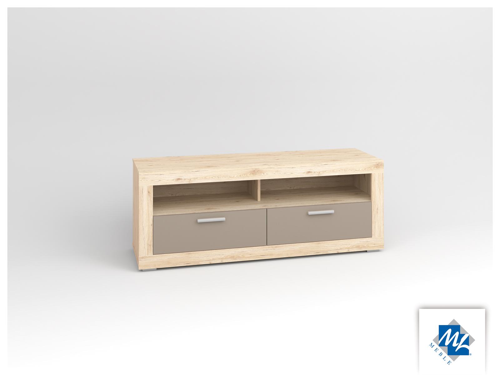 TV stolík/skrinka - ML Nábytok - Modern 13 dub San Remo + grafit
