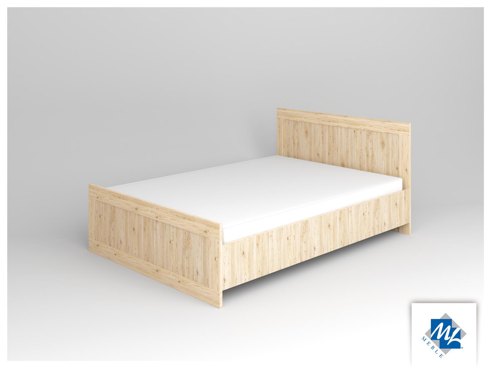 Manželská posteľ 140 cm - ML Nábytok - Modern 15 dub San Remo