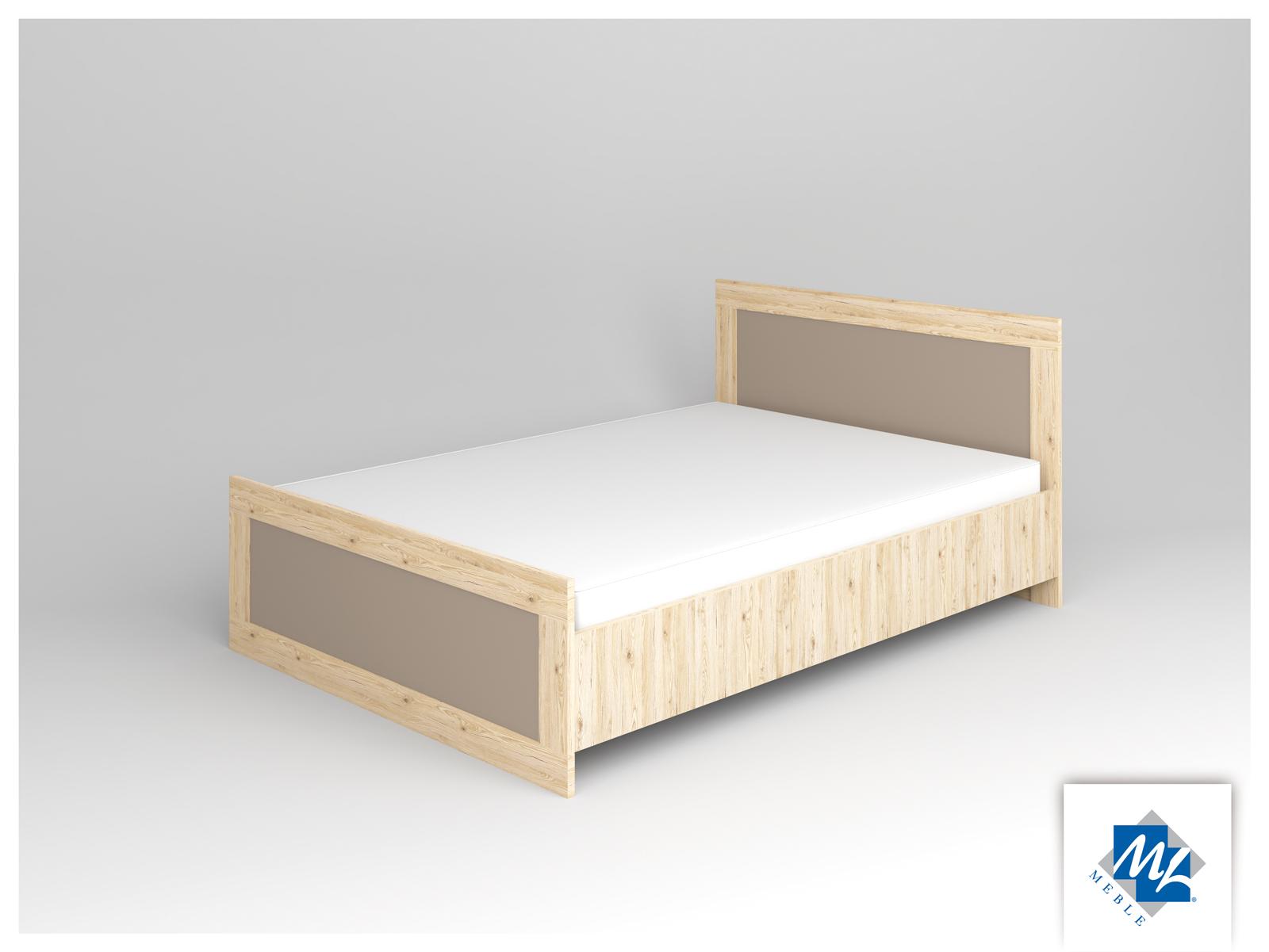 Manželská posteľ 140 cm - ML Nábytok - Modern 15 dub San Remo + grafit
