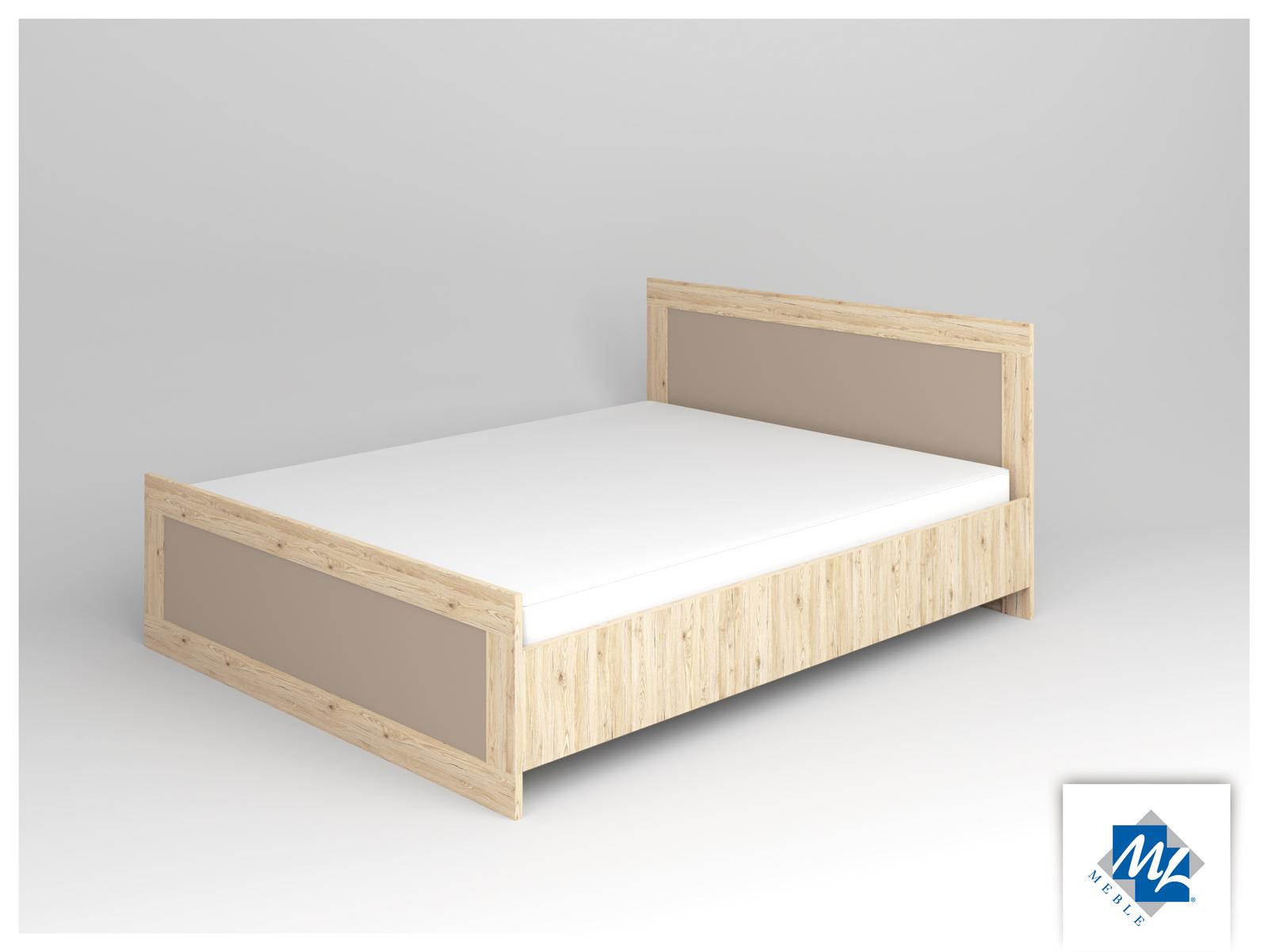 Manželská posteľ 160 cm - ML Nábytok - Modern 16 dub San Remo + grafit