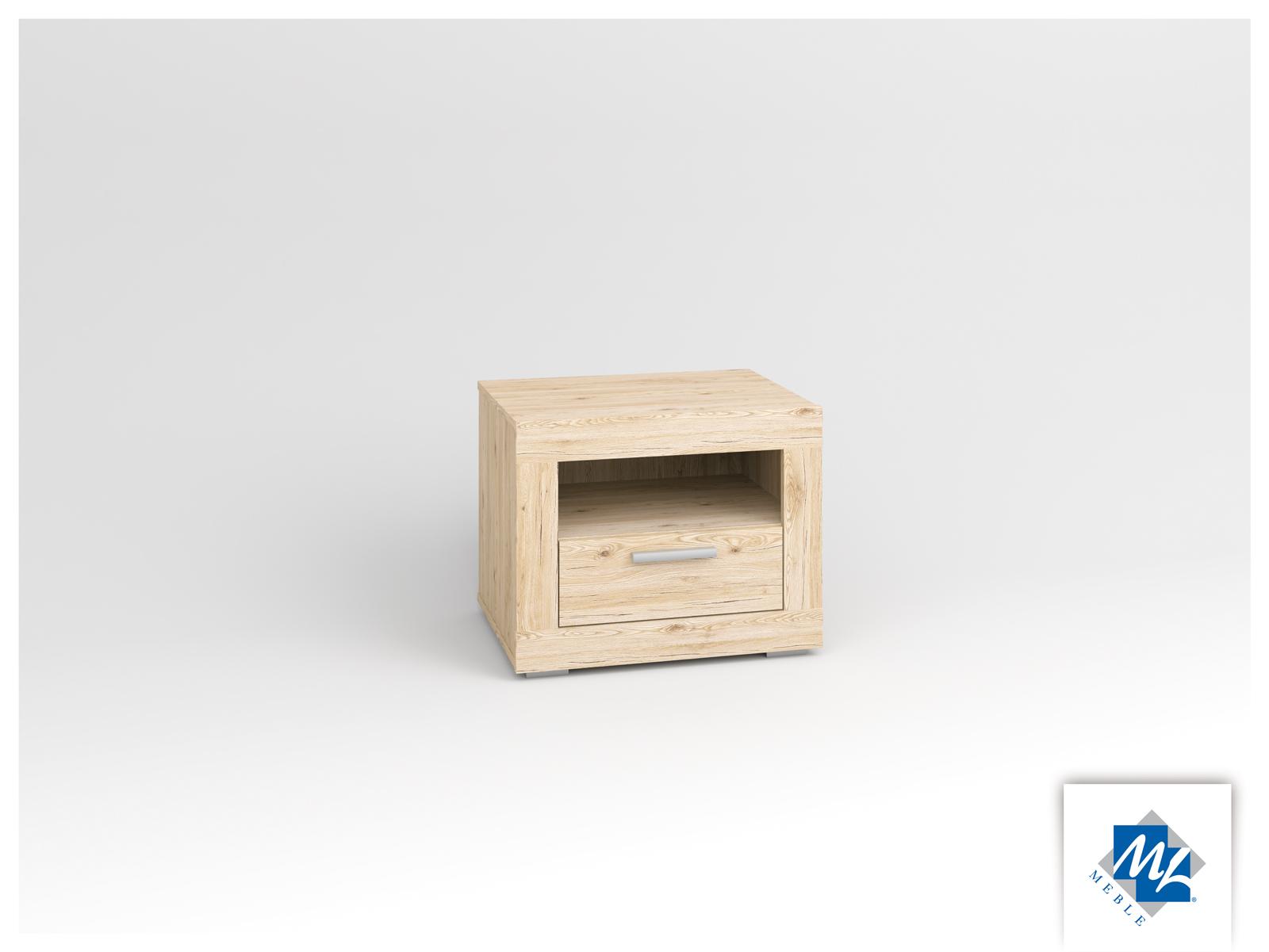 Nočný stolík - ML Nábytok - Modern 17 dub San Remo