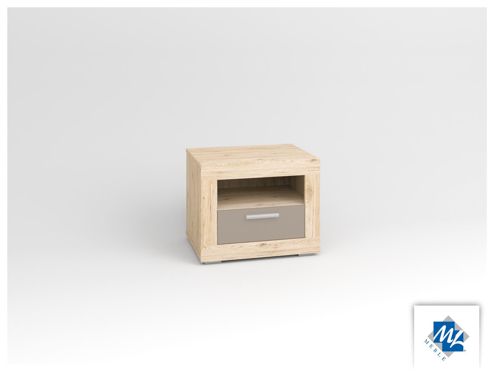 Nočný stolík - ML Nábytok - Modern 17 dub San Remo + grafit