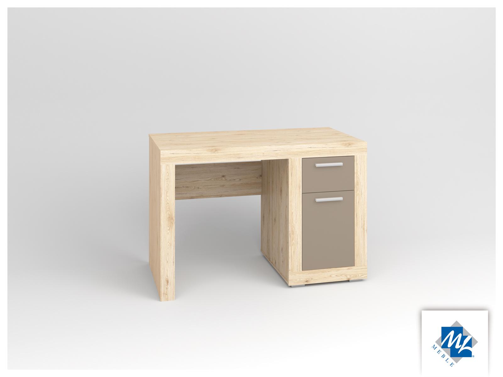 PC stolík - ML Nábytok - Modern 18 dub San Remo + grafit