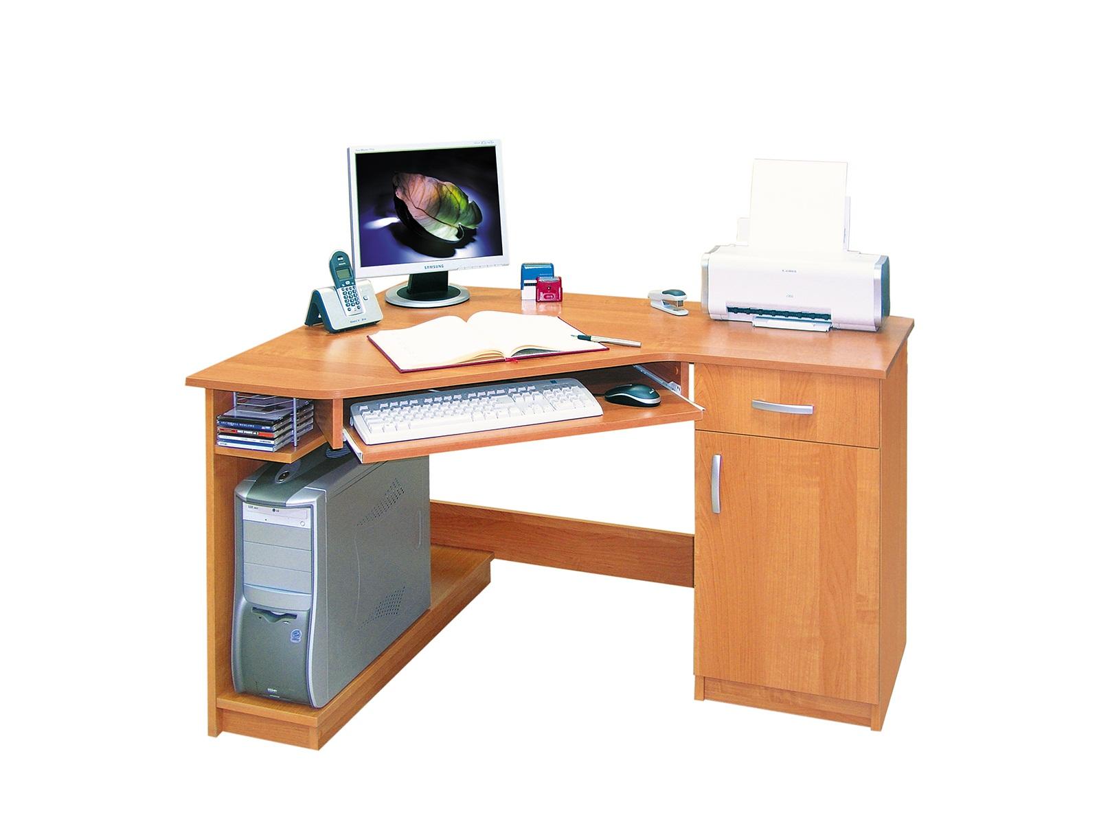 Rohový PC stolík - ML Nábytok - Karino L / P