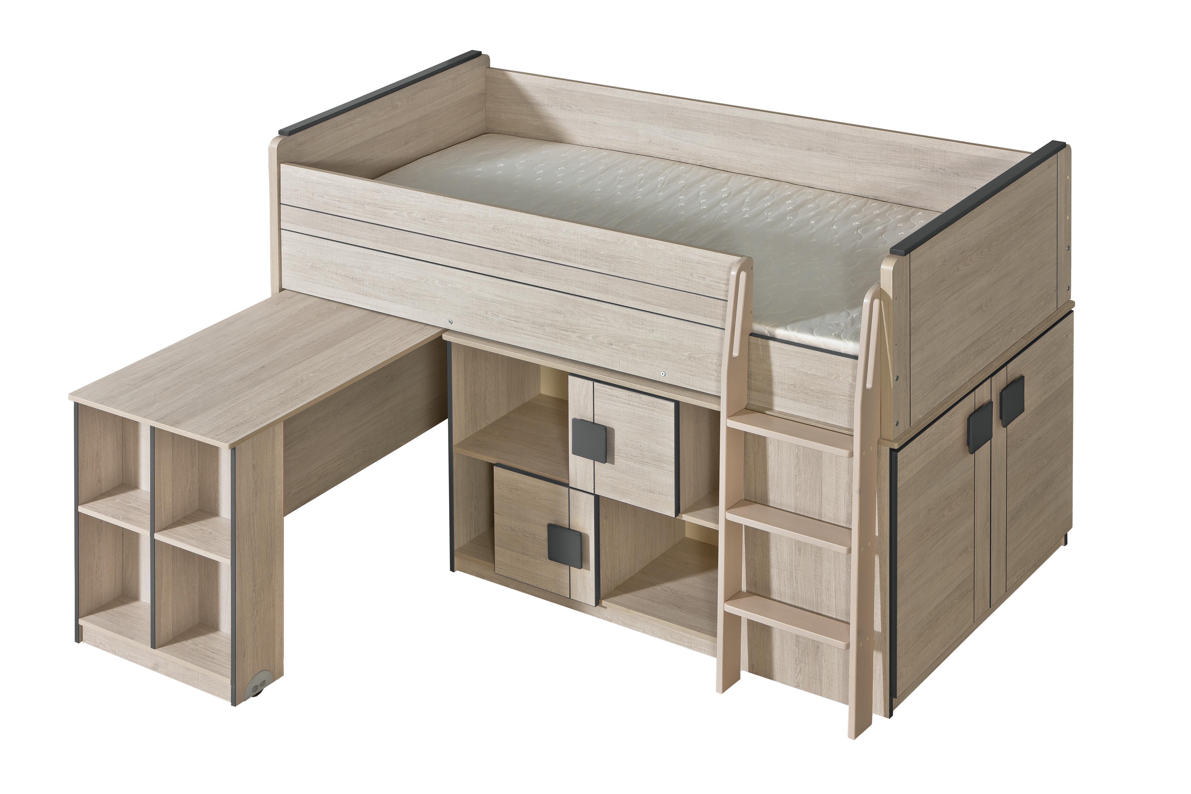 Poschodová posteľ 90 cm - Gemo - G19 (s roštom). Akcia -31%. Vlastná spoľahlivá doprava až k Vám domov.
