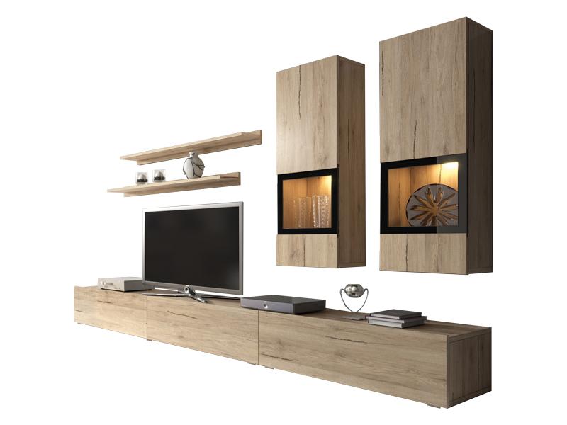 Obývacia stena Barly Typ 10 (dub san remo svetly)