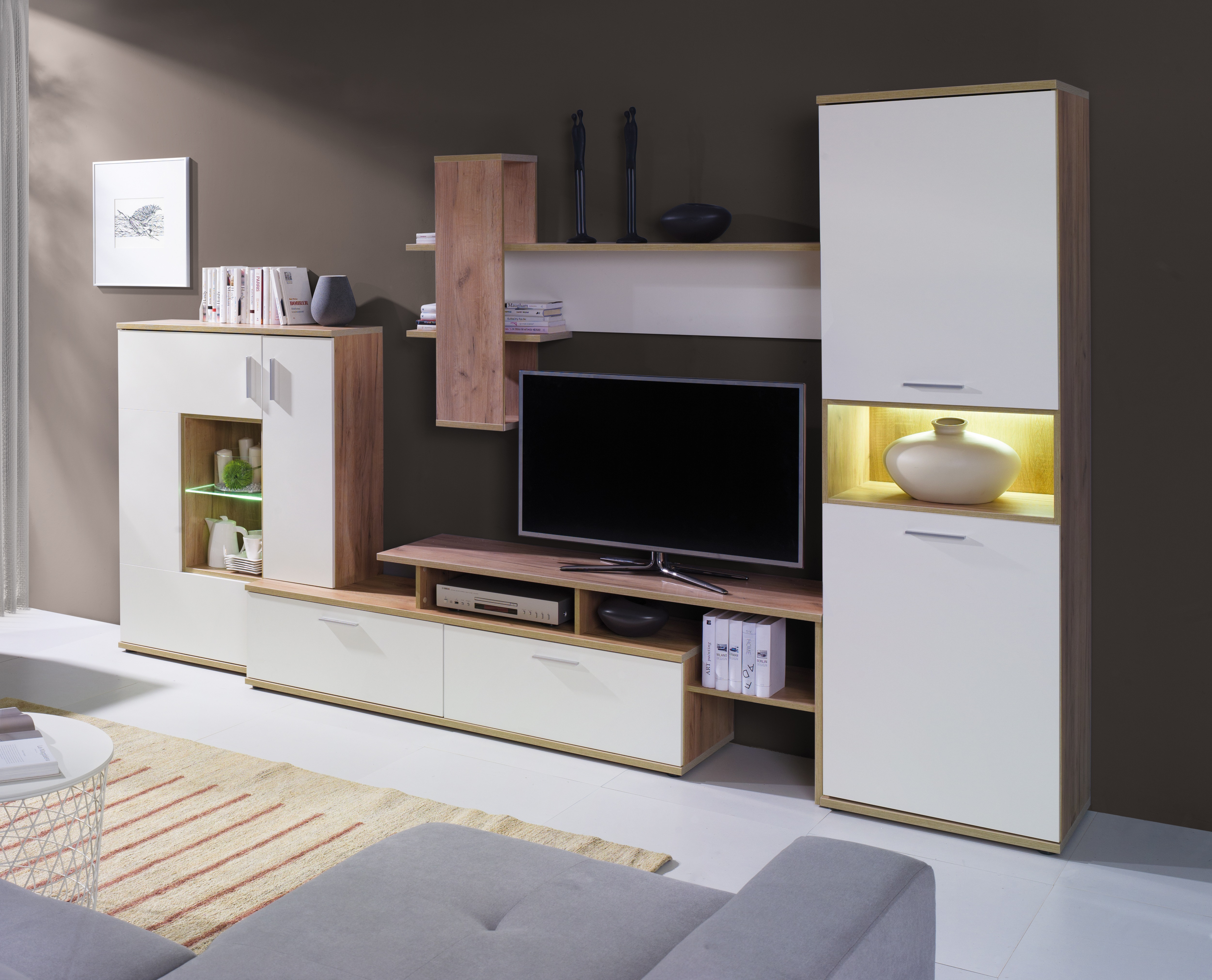 Obývacia stena - MOB - Virginia (s LED)