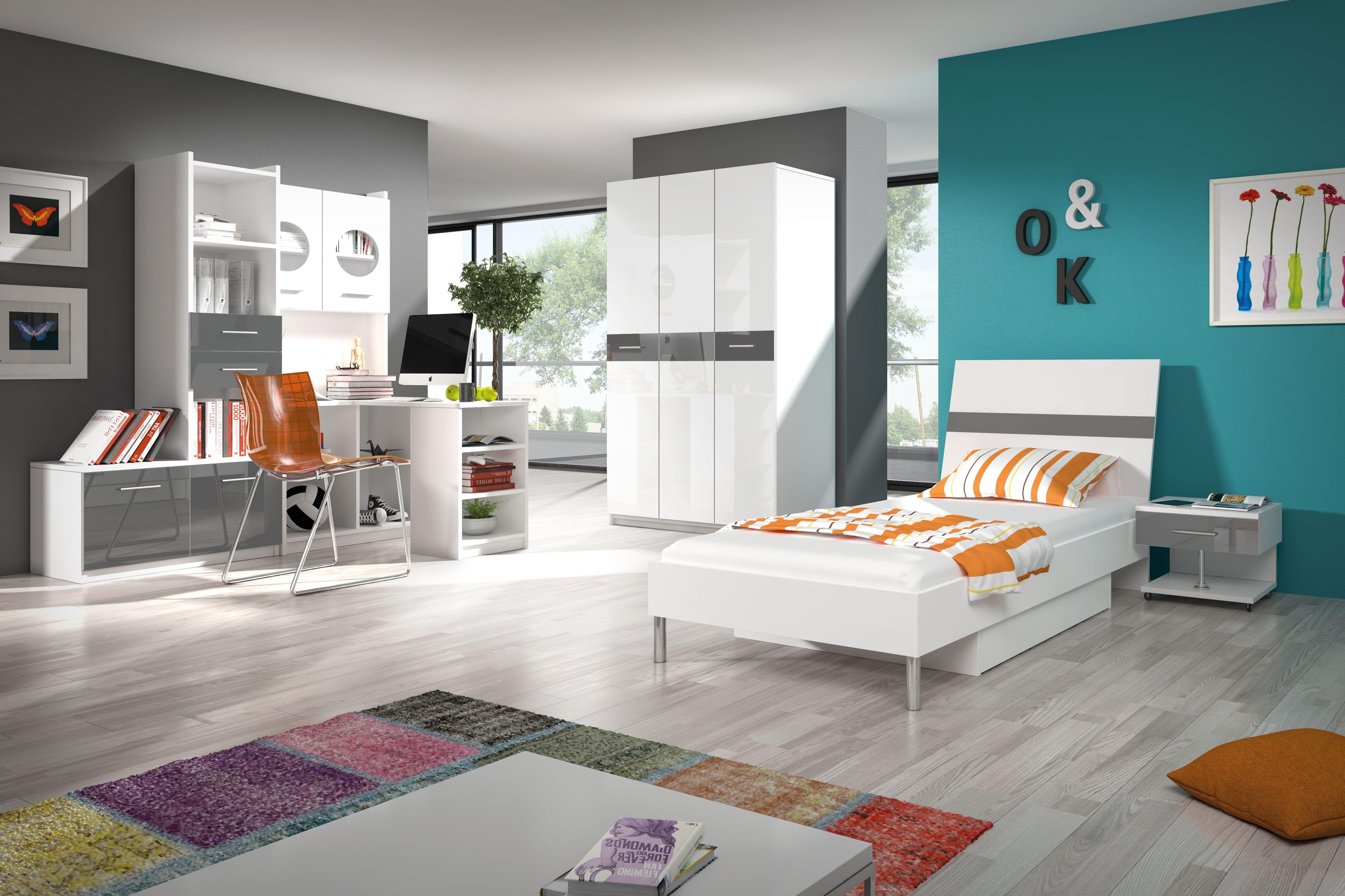 Študentská izba - Ruby I (biela + sivá). Akcia -33%. Doprava ZDARMA. Vlastná spoľahlivá doprava až k Vám domov.