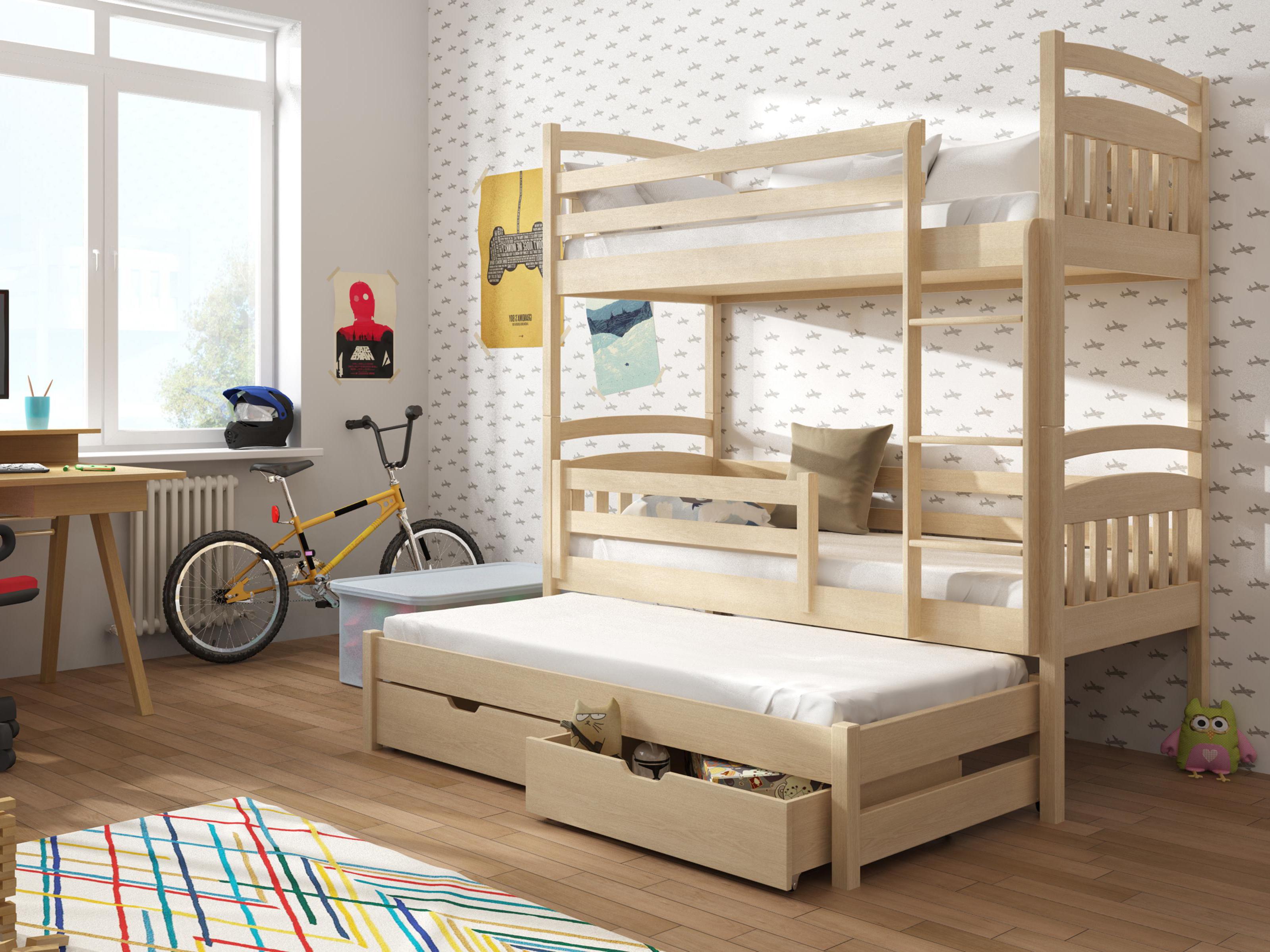 5512fd989e001 Detská poschodová posteľ 90 cm Anie (borovica) | NovýNábytok.sk