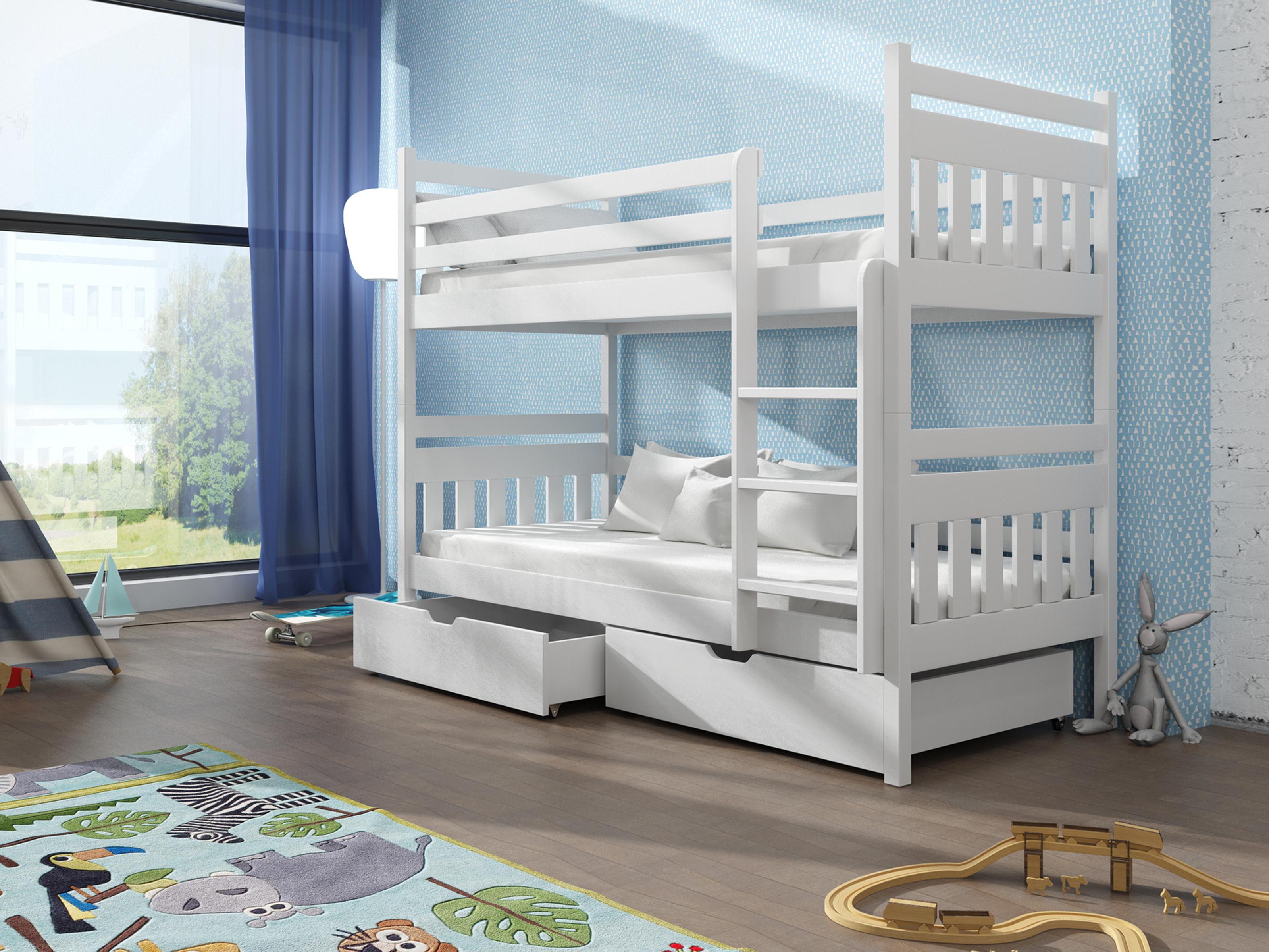 da863c989e5b9 Detská poschodová posteľ 90 cm Aras (biela) | NovýNábytok.sk