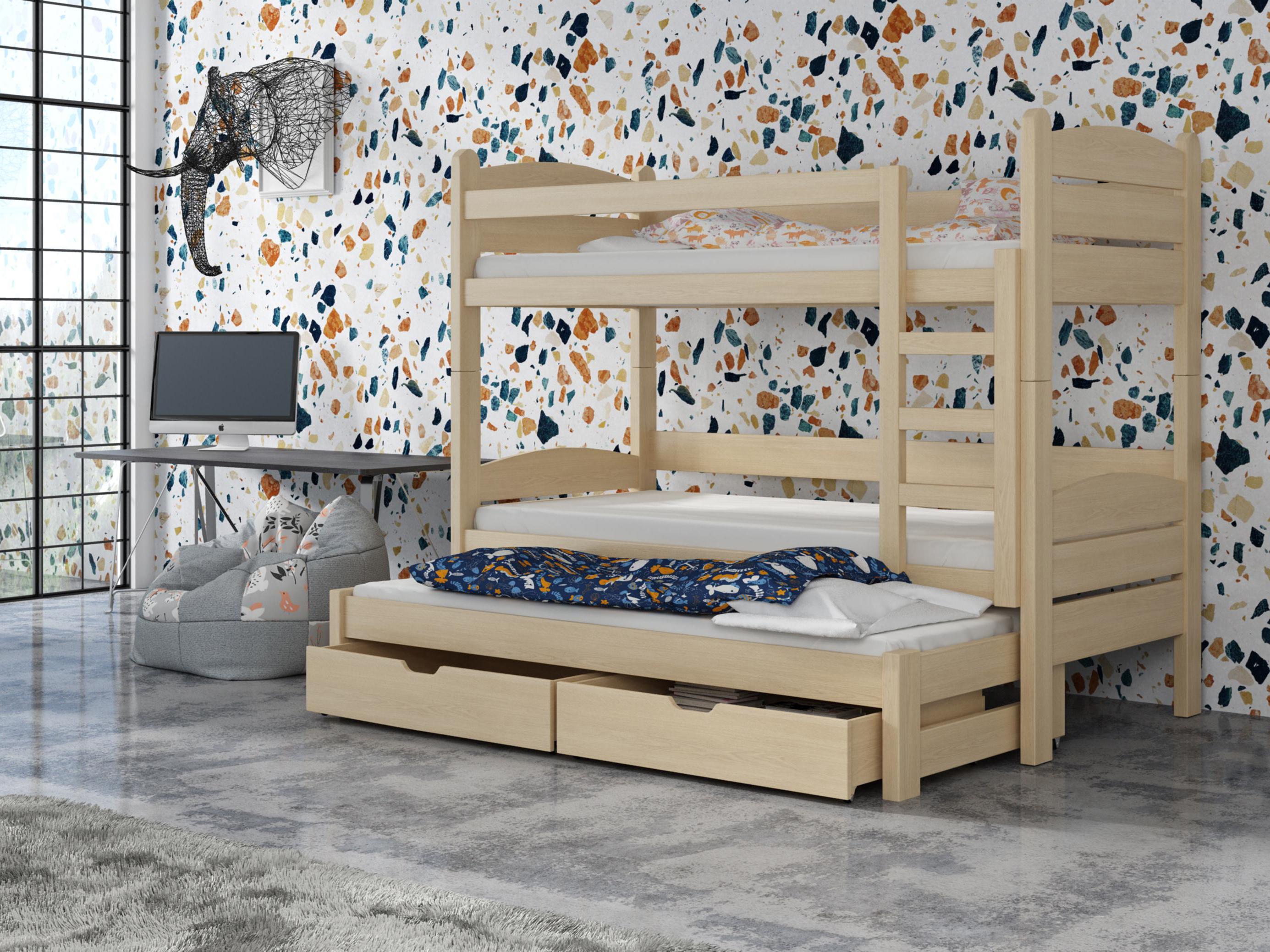 Detská poschodová posteľ 90 cm - Celsa (borovica). Akcia -31%. Vlastná spoľahlivá doprava až k Vám domov.