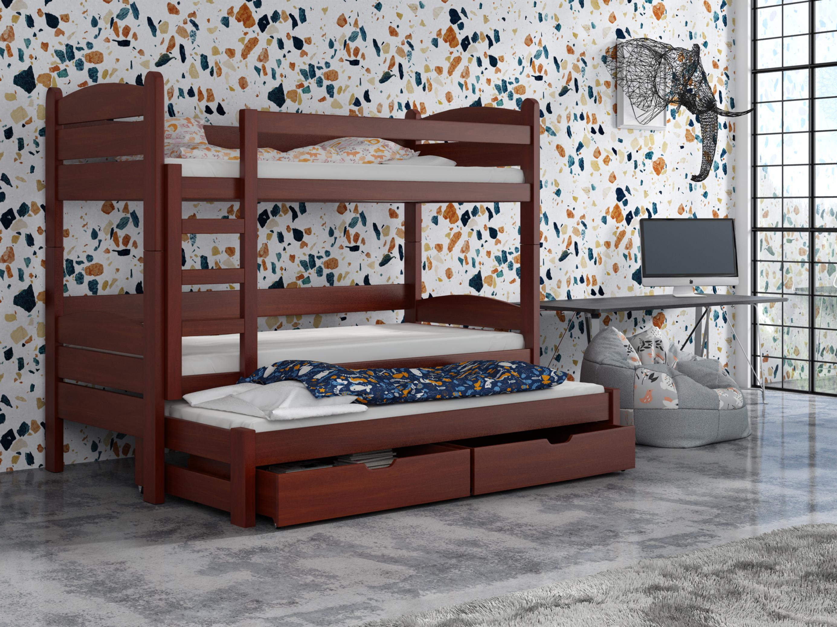 Detská poschodová posteľ 90 cm - Celsa (calvados). Akcia -33%. Vlastná spoľahlivá doprava až k Vám domov.