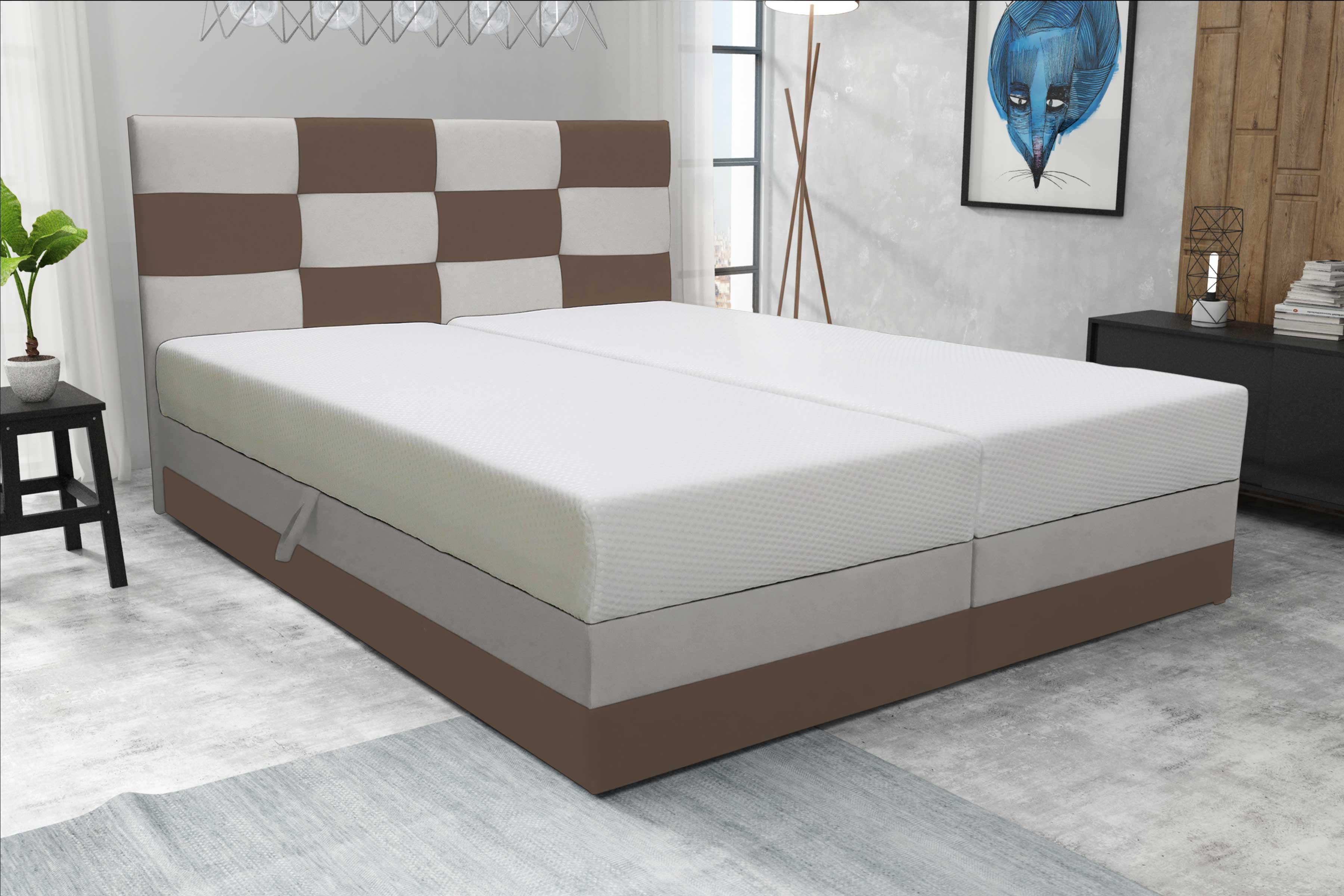 d4aa7c82983f8 Manželská posteľ 140 cm Marion (s roštom a matracom) | NovýNábytok.sk