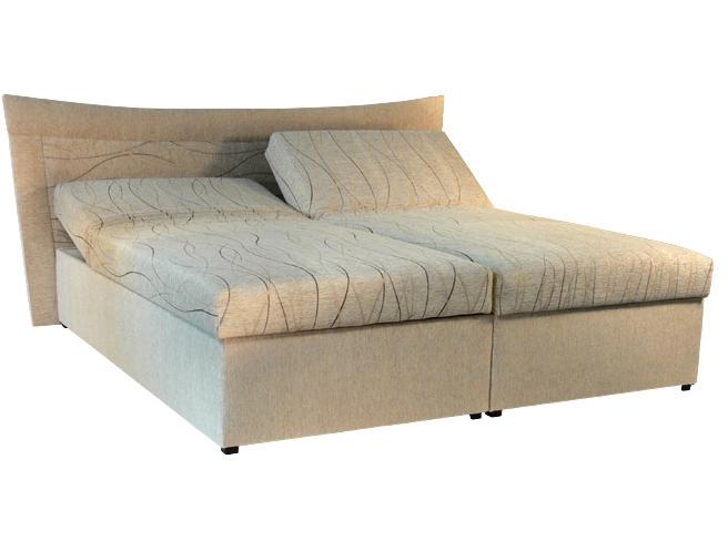 Manželská posteľ 180 cm - Mitru - Roma 2 (s molitanovým matracom)