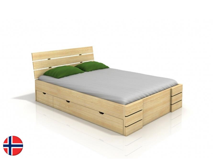 Manželská posteľ 160 cm - Naturlig - Lorenskog High Drawers (borovica) (s roštom). Doprava ZDARMA. Sme autorizovaný predajca Naturlig. Vlastná spoľahlivá doprava až k Vám domov.