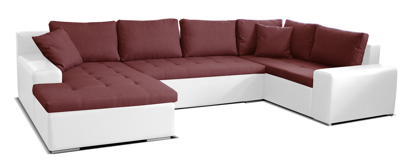 Rohová sedačka U - Po-Sed - Moreno L+2+BL (bordová + biela) (L). Akcia -12%. Doprava ZDARMA. Sme autorizovaný predajca Po-Sed. Vlastná spoľahlivá doprava až k Vám domov.