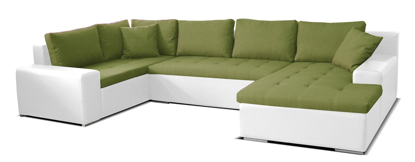 Rohová sedačka U - Po-Sed - Moreno BL+2+L (zelená + biela) (P). Akcia -26%. Doprava ZDARMA. Sme autorizovaný predajca Po-Sed. Vlastná spoľahlivá doprava až k Vám domov.
