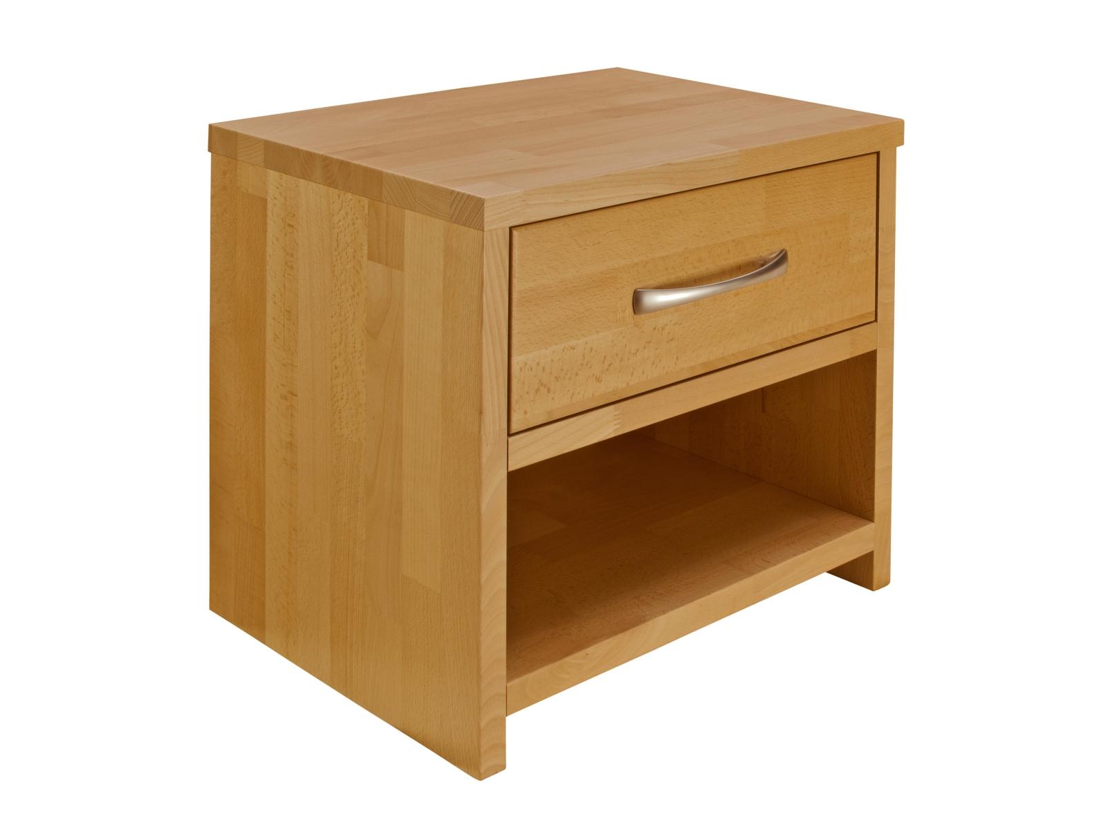 Nočný stolík - Purtex - Masív so zásuvkou (masív)