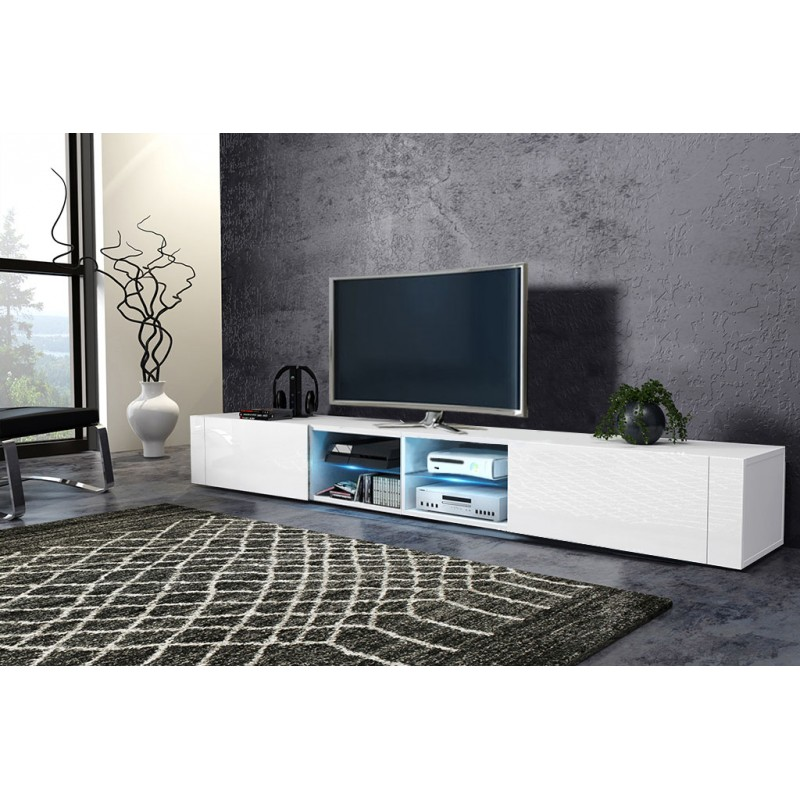 tv stol k skrinka best dvojit biela lesk biely. Black Bedroom Furniture Sets. Home Design Ideas