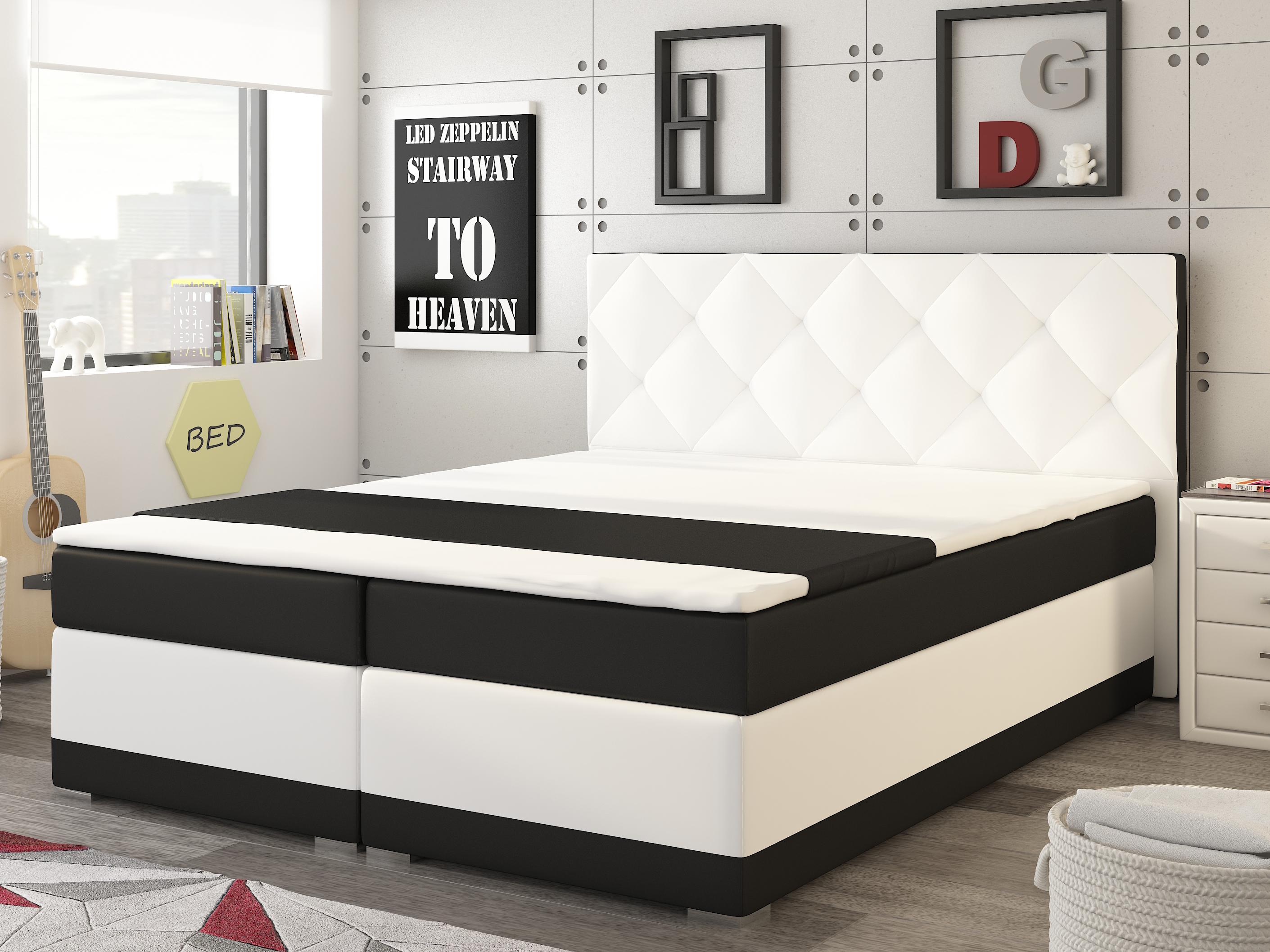 c35384cb5159 Manželská posteľ Boxspring 180 cm Modena (s matracmi)  výpredaj ...