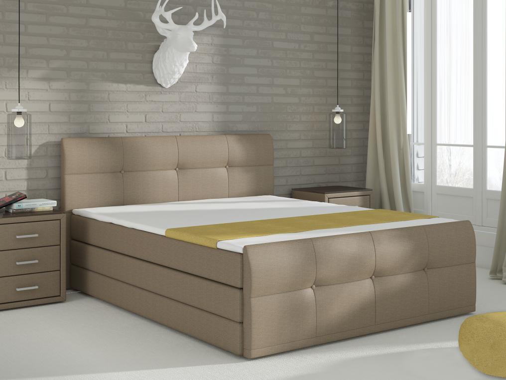 Manželská posteľ Boxspring 180 cm Palermo (s matracmi a úl. priestorom)