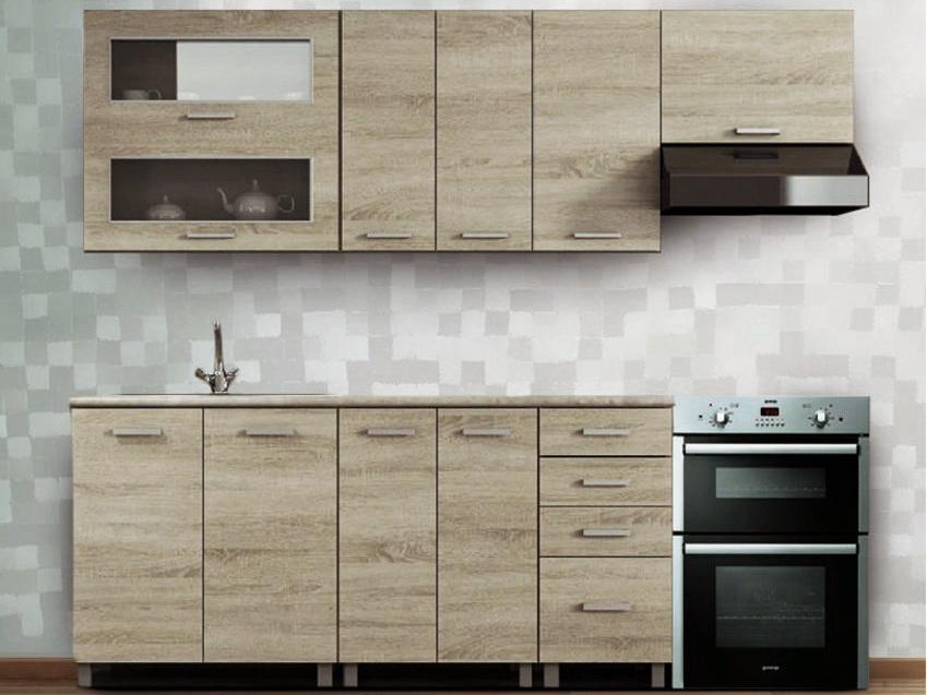Kuchyňa - Renar - Antonio 240 cm dub sonoma. Sme autorizovaný predajca Renar. Vlastná spoľahlivá doprava až k Vám domov.