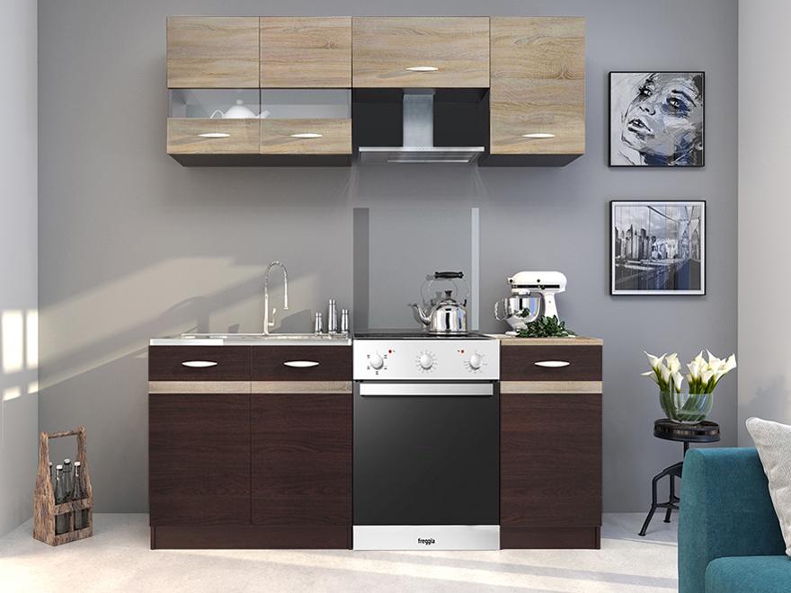 Kuchyňa - Renar - Livia 180 cm dub sonoma tmavá + dub sonoma svetlá. Sme autorizovaný predajca Renar. Vlastná spoľahlivá doprava až k Vám domov.