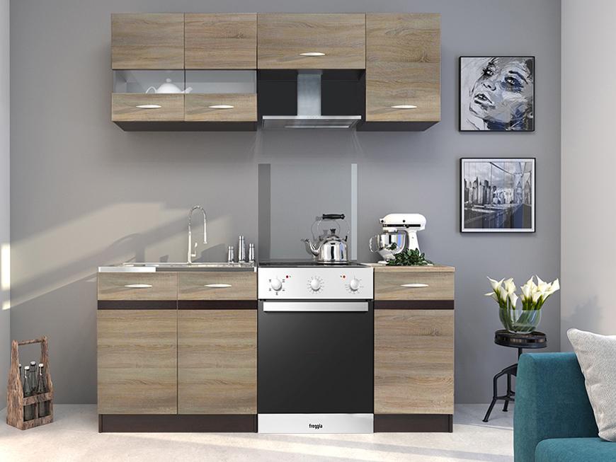 Kuchyňa - Renar - Livia 180 cm dub sonoma svetlá + dub sonoma tmavá. Sme autorizovaný predajca Renar. Vlastná spoľahlivá doprava až k Vám domov.