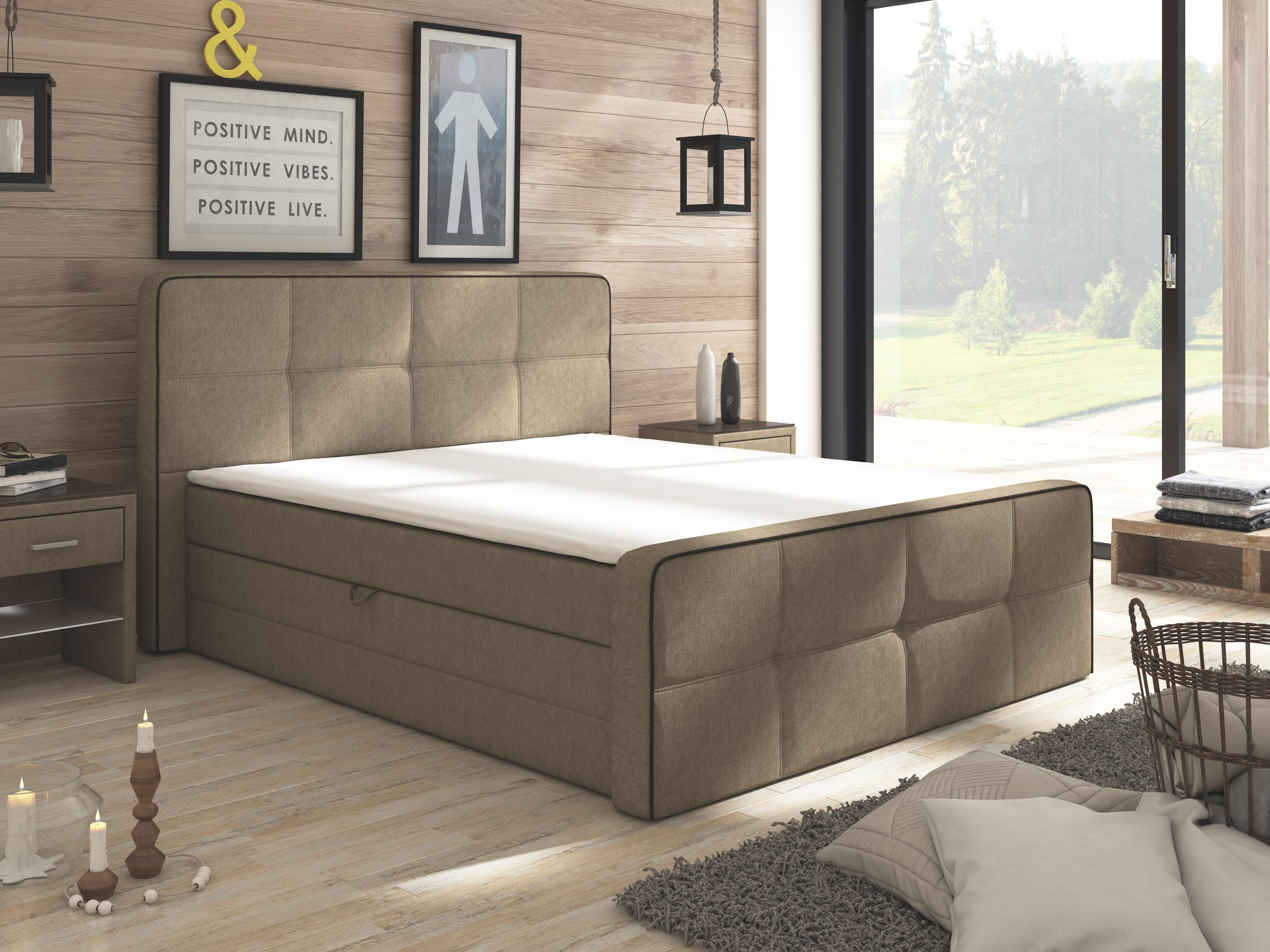 Manželská posteľ Boxspring 160 cm - Renar - Paradise (s matracmi a úl. priestorom). Doprava ZDARMA. Sme autorizovaný predajca Renar. Vlastná spoľahlivá doprava až k Vám domov.