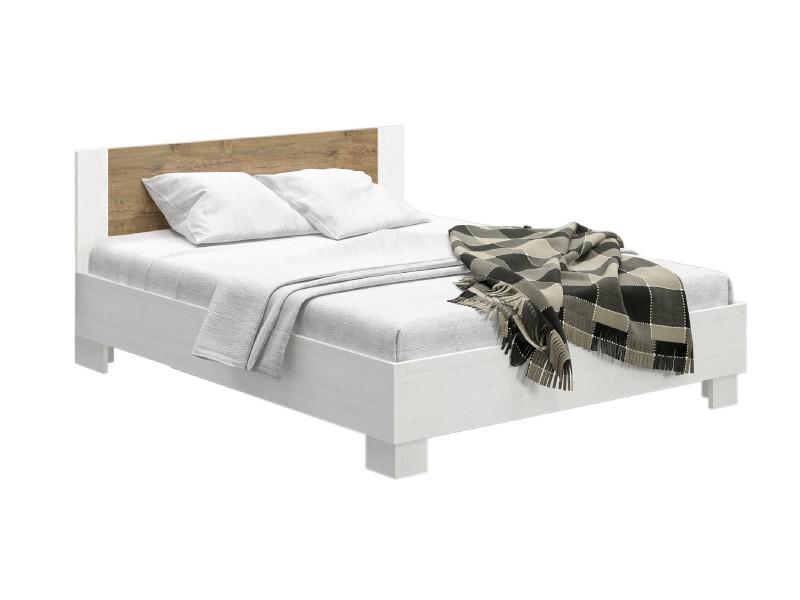 Manželská postel 180 cm - Renar - Markos (borovica anderson + dub) (s roštem). Sme autorizovaný predajca Renar. Vlastná spoľahlivá doprava až k Vám domov.