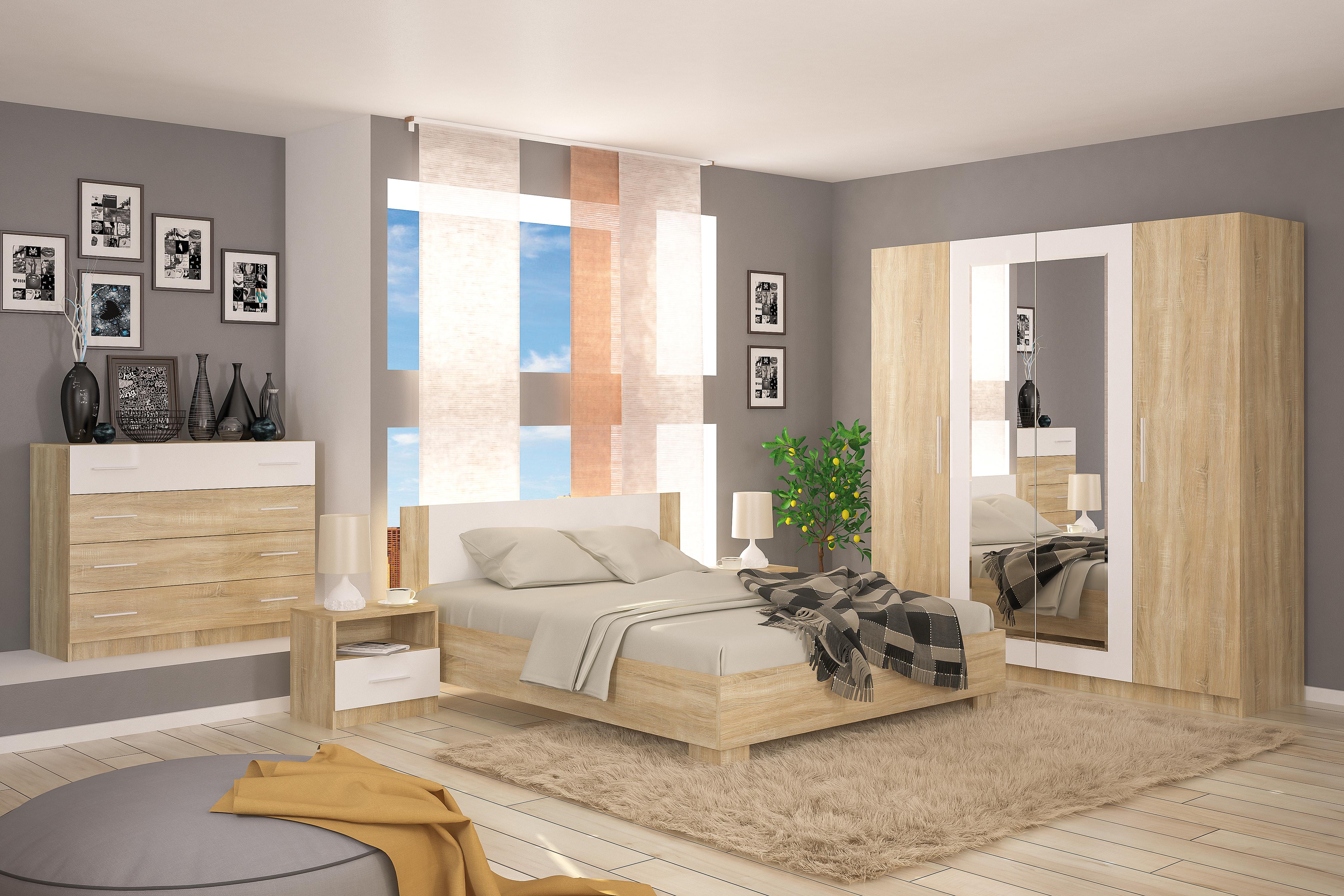 Manželská posteľ 160 cm - Renar - Markos (s roštom)
