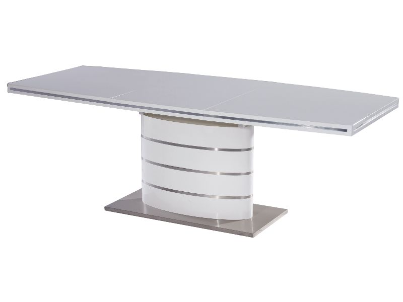 Jedálenský stôl - Signal - Fano (lesk vysoký biely) (pre 6 osôb až 8 osôb). Doprava ZDARMA. Sme autorizovaný predajca Signal. Vlastná spoľahlivá doprava až k Vám domov.