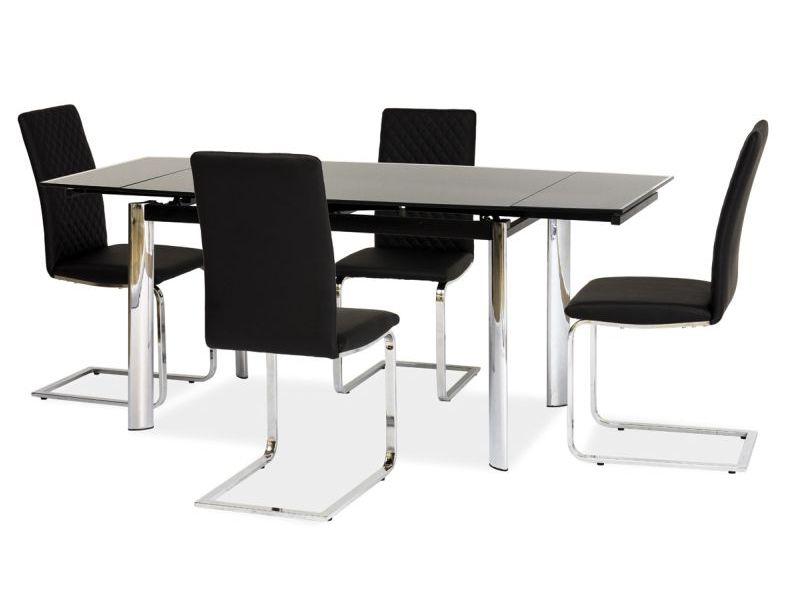 Jedálenský stôl - Signal - GD-020 (čierna + chróm) (pre 6 osôb až 8 osôb). Doprava ZDARMA. Sme autorizovaný predajca Signal. Vlastná spoľahlivá doprava až k Vám domov.
