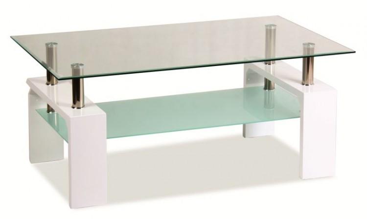 Konferenčný stolík Lisa Basic II (lesk vysoký biely)