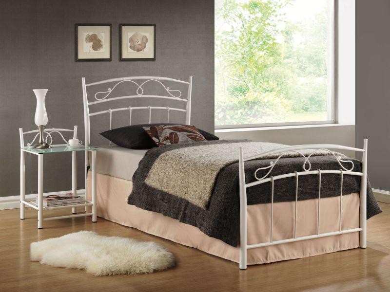 Jednolôžková posteľ 90 cm - Signal - Siena biela (s roštom)