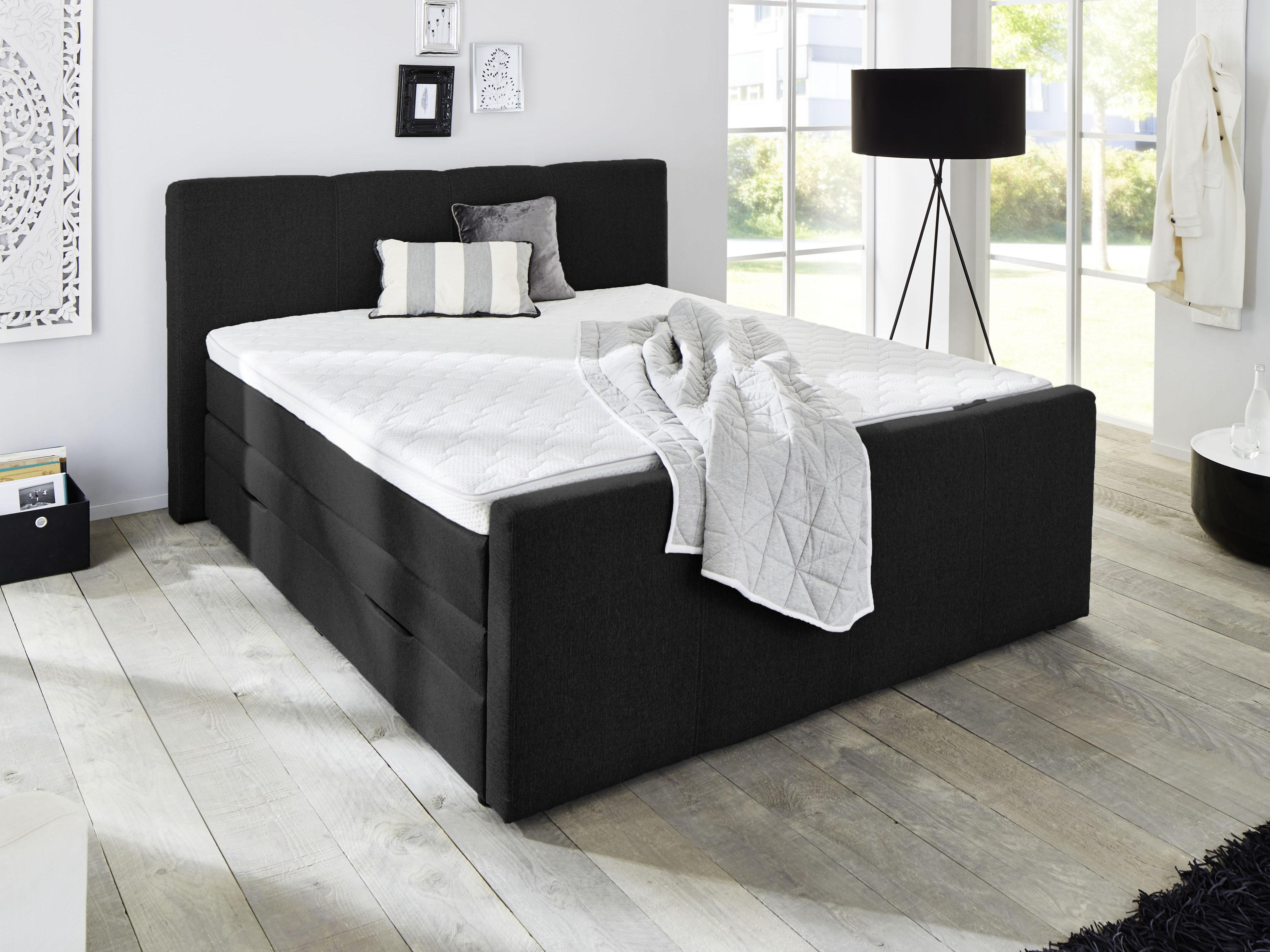 Manželská posteľ Boxspring 180 cm - Styler - TBX 1110 (čierna) (s matracmi). Doprava ZDARMA. Sme autorizovaný predajca Styler. Vlastná spoľahlivá doprava až k Vám domov.
