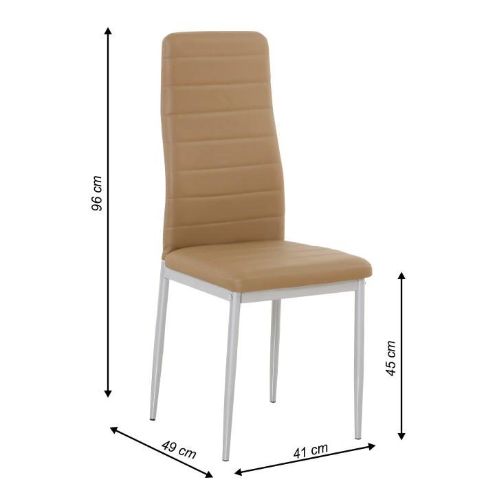 77214c1911cf2 Jedálenská stolička Coleta nova (karamelová) | NovýNábytok.sk